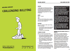 Challenging Bullying Lesson Plan